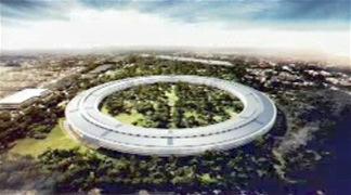 ジョブズ氏「巨大UFO型の新本社」をプレゼン